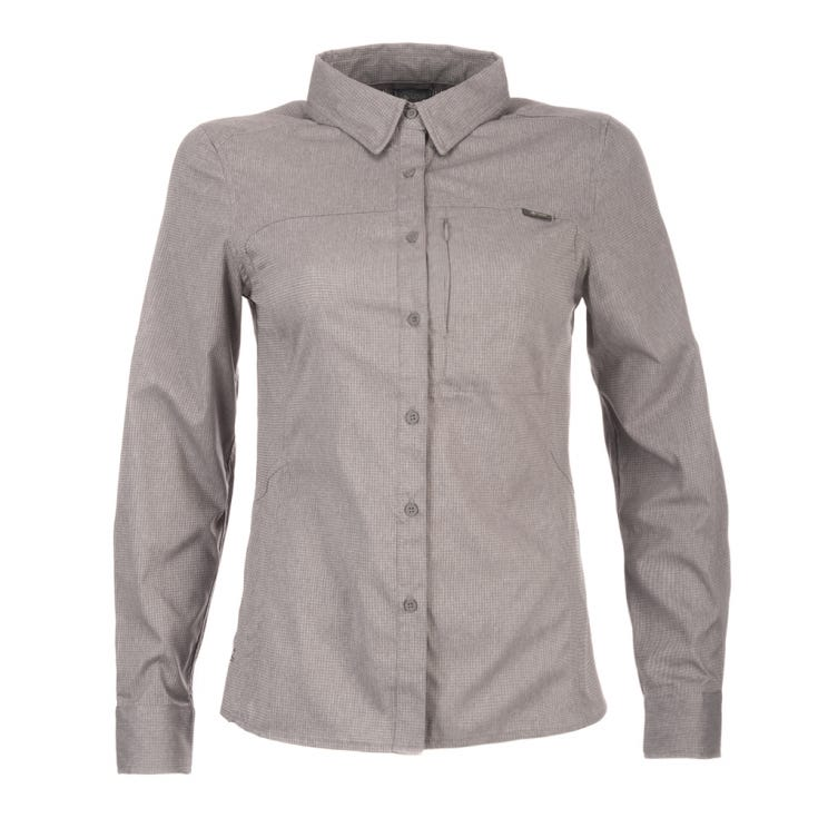 Camisa Mujer Rosselot Q-Dry Long Sleeve Shirt Gris V19