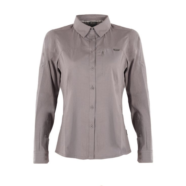 Camisa Mujer Rosselot Q-Dry Shirt L/S Gris I18