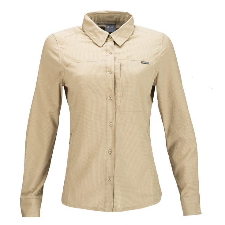 Camisa Mujer Rosselot Q-Dry Shirt L/S Beige I19