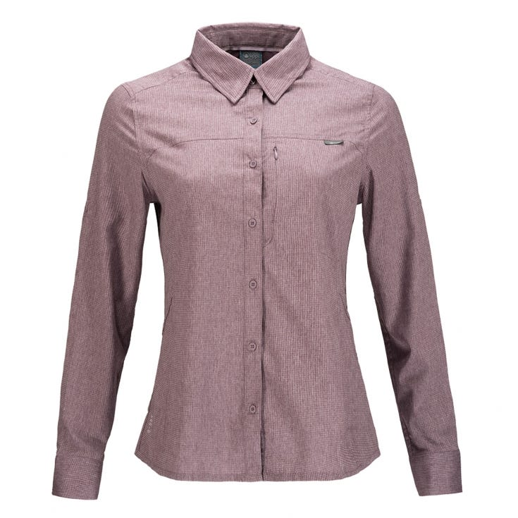 Camisa Mujer Rosselot Q-Dry Shirt L/S Rosa I19